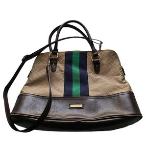 Tommy Hilfiger Satchel with Blue & Green S…